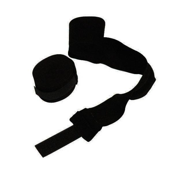 Bandes de boxe coton élastique MB (la paire) - 4,5 m - NOIR