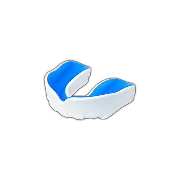 Protège dents Gel simple, taille Senior, BLANC / BLEU + boîte