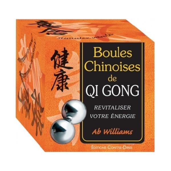 Boules chinoises de Qi Gong, coffret 2 boules + livre - Ab Williams
