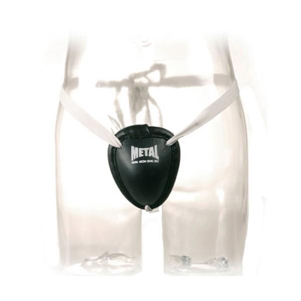 Coquille de Boxe Thaï MB, coque acier, taille unique - NOIR