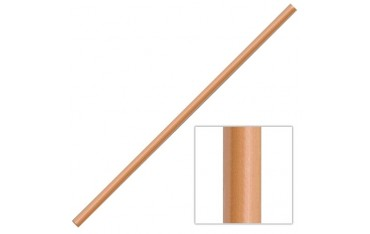 HANBO, bâton 91 cm (diam. 2.5 cm) - Chêne Rouge JAPON