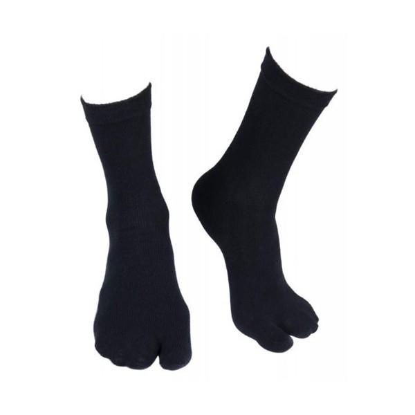 Chaussettes / Tabi en nylon élasthane, taille unique - NOIR