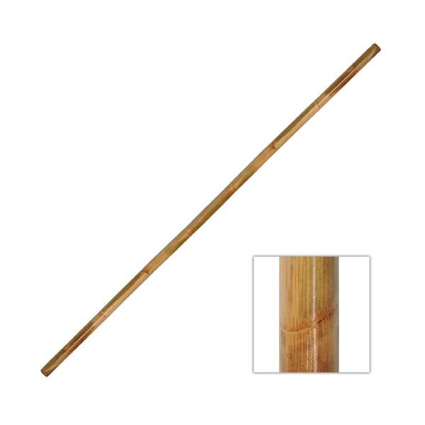 BO, bâton 180 cm (diam. 2.5 cm à 3 cm) - Rotin avec écorce