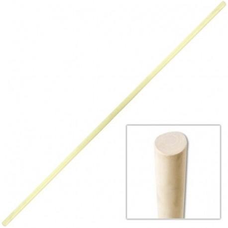 BO, bâton 180 cm, modèle Shaolin, (diam. 3.2 cm) - Bois ciré blanc