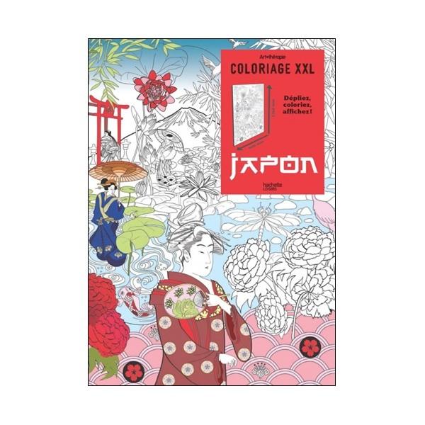 Japon, coloriage XXL, poster (art thérapie) -