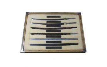 Tableau étapes fabrication lames Katana (6 lames sous verre)
