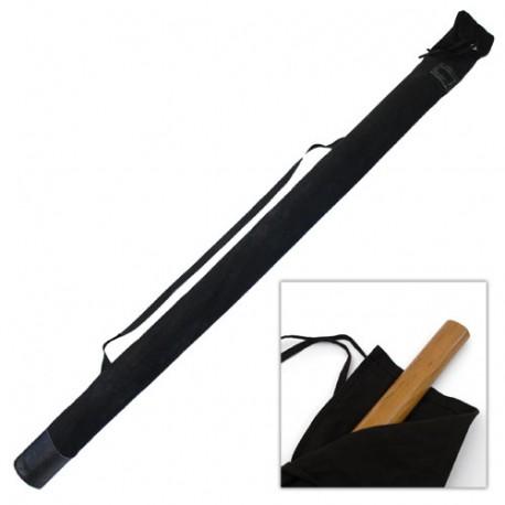 Etui large en bâche coton, bas renforcé & bandoulière, 210 cm - Noir