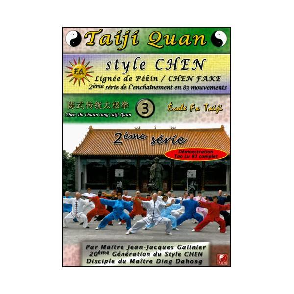 Taiji Quan style Chen V3 enchainement 2ème partie (28mvt)- Galinier