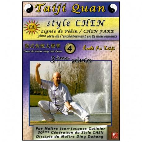 Taiji Quan style Chen V4 enchainement 3ème partie (40mvt)- Galinier