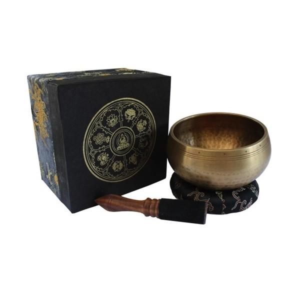 Bol chantant népalais avec coussin et bâton + boîte, diam.10cm, 390gr