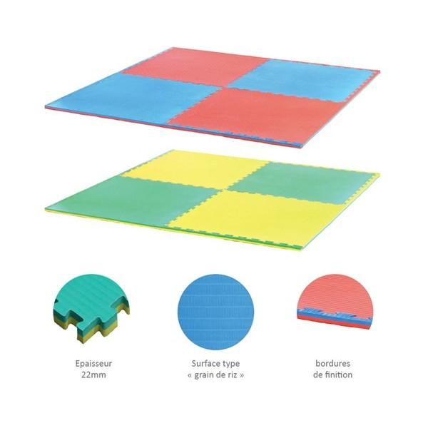 """Tatamis """"puzzle"""", 1m x 1m, ép. 40mm, modèles et tarifs nous consulter"""