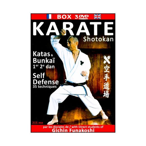 Karaté Shotokan kata bunkaÏ,self défense (box 3 DVD) - dojo Keio