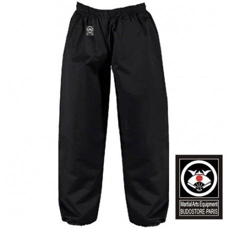 Pantalon KUNG-FU, TAI CHI, coton, élast. aux chevilles, T.120 - NOIR