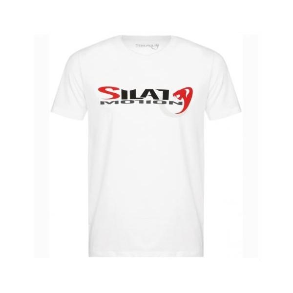 "Tee-shirt SILAT MOTION ""Cobra White"", 100% coton bio, T. M - BLANC"