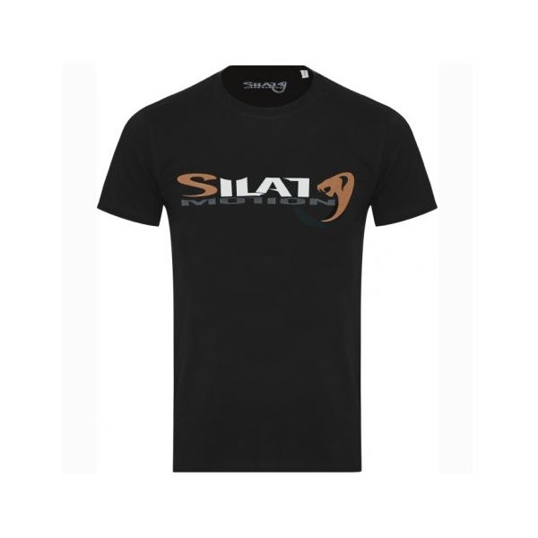 "Tee-shirt SILAT MOTION ""Cobra Black"", 100% coton bio, T. M - NOIR"