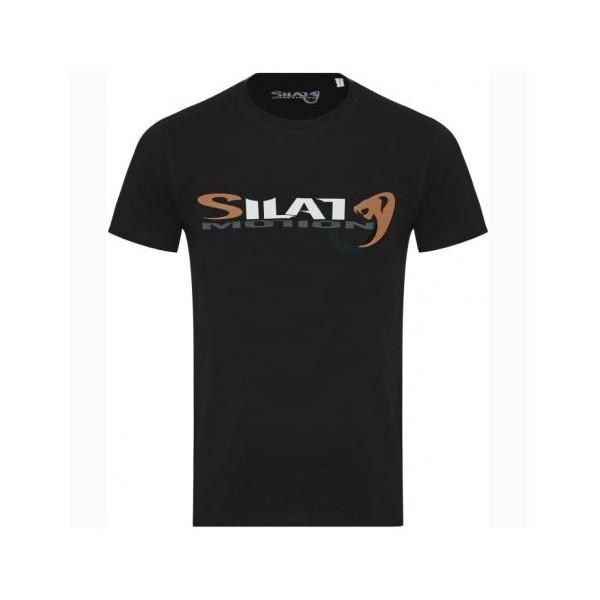 "Tee-shirt SILAT MOTION ""Cobra Black"", 100% coton bio, T. L - NOIR"