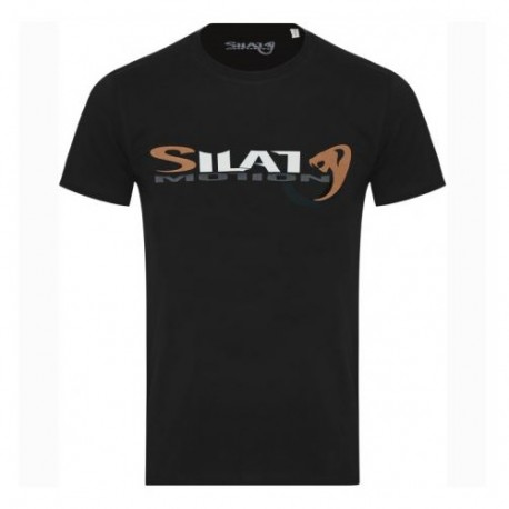 "Tee-shirt SILAT MOTION ""Cobra Black"", 100% coton bio, T. XL - NOIR"