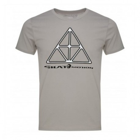 "Tee-shirt SILAT MOTION ""Triangle"", 100% coton bio, T. XL - GRIS"