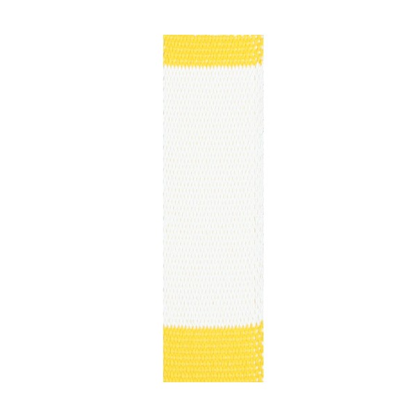 Ceinture sangle bicolore JUDO adulte - BLANC/JAUNE