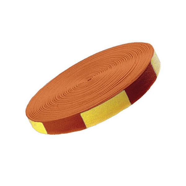 Ceinture sangle bicolore JUDO, rouleau coton 50 mètres - JAUNE/ORANGE