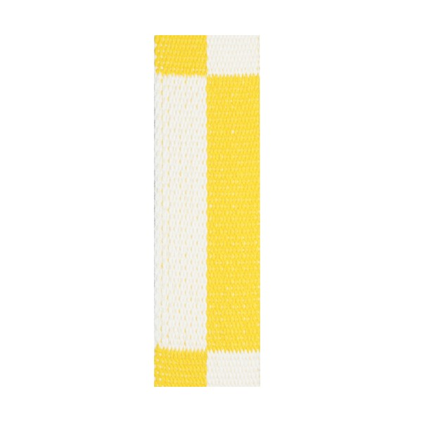 Ceinture sangle bicolore KARATE adulte - BLANC/JAUNE