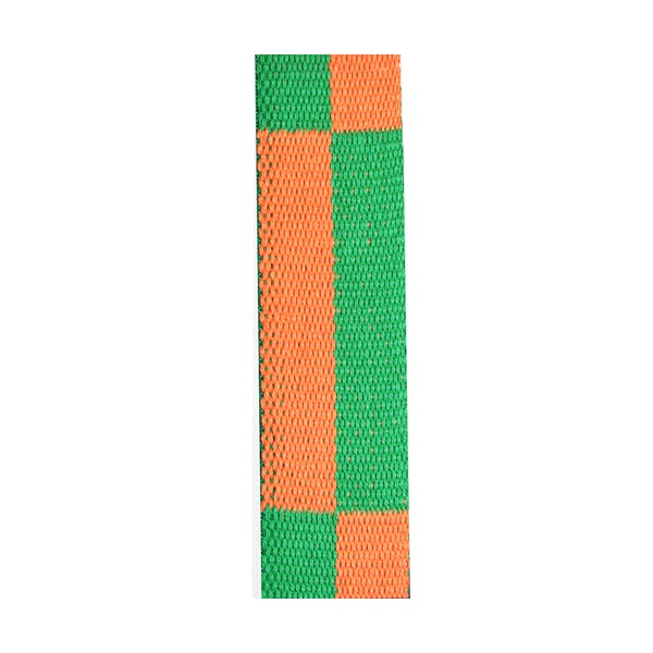 Ceinture sangle bicolore KARATE, rouleau 50 mètres - ORANGE/VERT