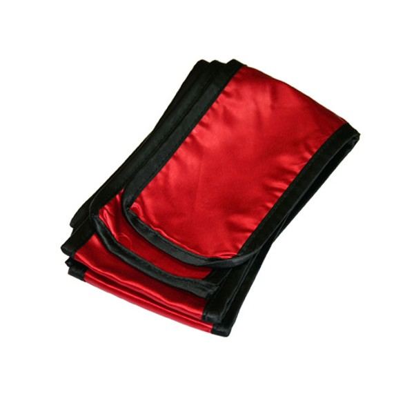 Ceinture Kung-Fu SATIN, 11 cm de large, long. 300 - ROUGE bords noirs