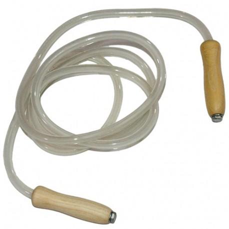 Corde à sauter tube plastique MB, long 280 cm, diam 10 mm, réglable