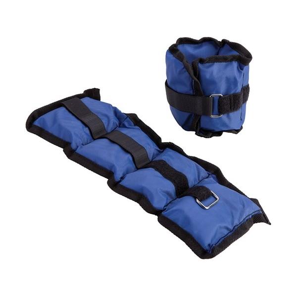 Poignets ou Chevilles lestés, nylon, 2,200 kg la paire (Bleu)