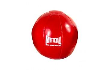 Médecine ball MB en vinyle, 4kgs (rouge)