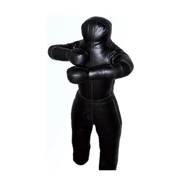Mannequin de JUDO, GRAPPLING en Cuir artificiel NOIR - 175 cm / 40 kg