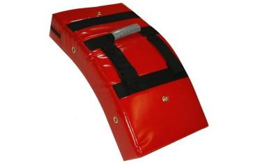 Bouclier courbe 60x33 en PVC renforcé - ROUGE