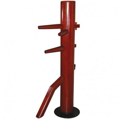 Dummy, mannequin en bois Wing-Chun, modèle PIVOTANT, 165 x 20cm diam.