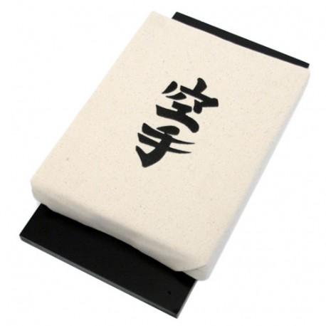"""Makiwara mural GM """"Karaté"""", mousse 30x23 sur planche - Coton Blanc"""
