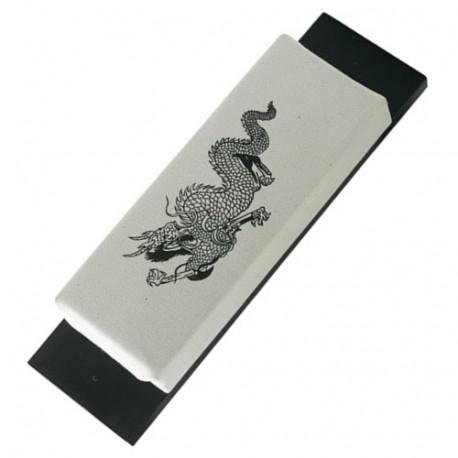 """Makiwara mural PM """"Dragon"""", mousse 30x12 sur planche - Coton Blanc"""