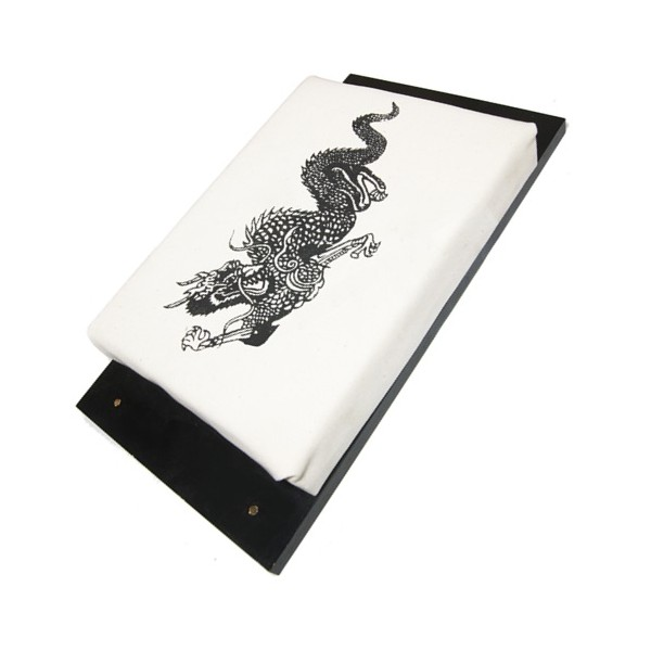 """Makiwara mural GM """"Dragon"""", mousse 30x23 sur planche - Coton Blanc"""