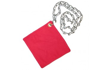 """Sac """"kime"""" pour sable, à suspendre, avec chaîne d' 1m - Coton rouge"""