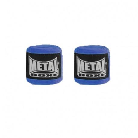 Bandes de boxe coton élastique MB (la paire) - 2,5 m - BLEU
