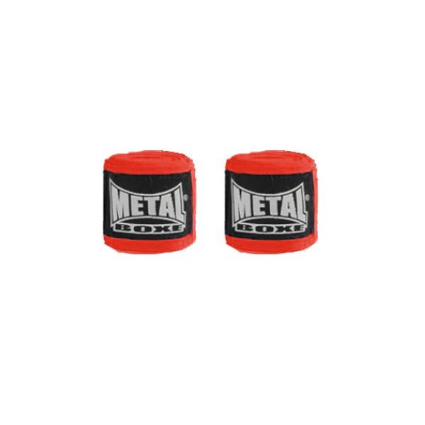 Bandes de boxe coton élastique MB (la paire) - 2,5 m - ROUGE