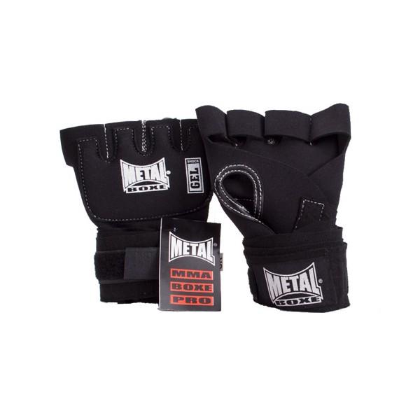 """Sous-gants de boxe """"Gel Choc"""" MB, bandes incorporées, T.U. - NOIR"""