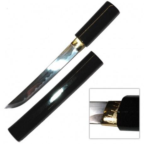 Tanto lame métal de 20 cm, non tranchant, fourreau noir laqué - Japon