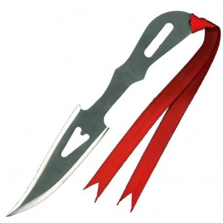 """Couteau à lancer """"coeur"""" 16 cm - Acier poli"""