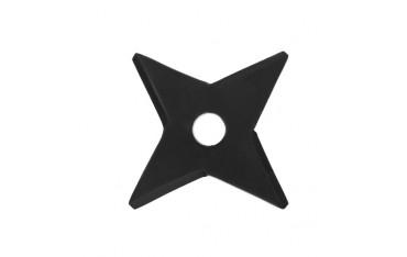 Etoile à lancer 4 pointes carrées, diam 9,5 cm - Acier NOIR