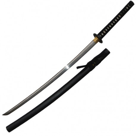 Iaito Chisai, lame forgée inox à gorge 68,5 cm, fourreau noir