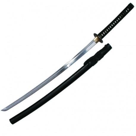 Iaito Ochiba, lame forgée inox à gorge 68,5 cm, fourreau noir
