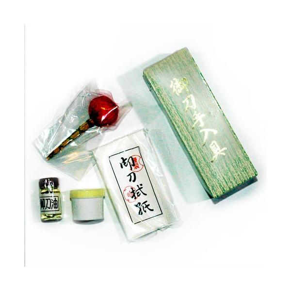 Set d'entretien pour sabres japonais, boîte en CARTON
