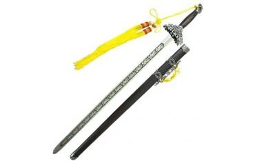 Epée chinoise semi-flexible avec fourreau, lame aluminium 74 cm