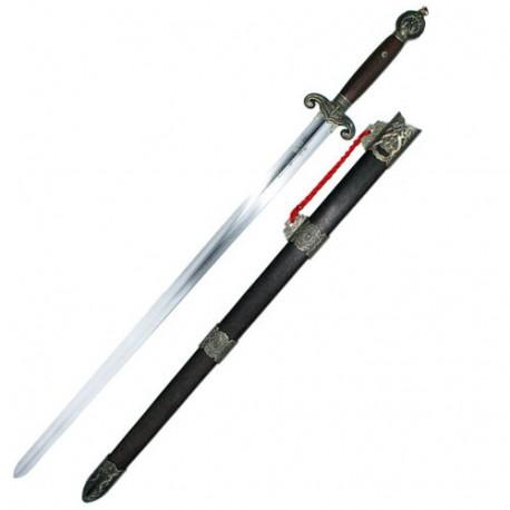 Epée chinoise semi-flexible avec fourreau, lame acier 75 cm