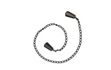 MANRIKI, chaîne 86 cm avec poids aux extrémités - NOIR