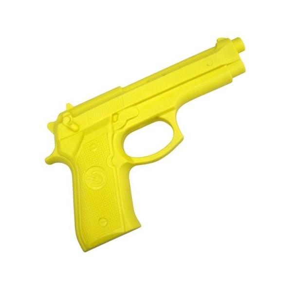 Pistolet d'entraînement en caoutchouc, modèle réaliste - JAUNE